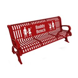Paris 6 ft. Red Premium Buddy Bench