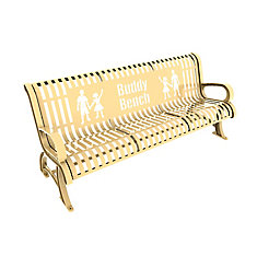 6 ft. Tan Premium Buddy Bench