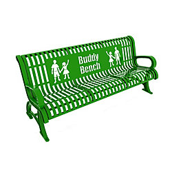 Paris 6 ft. Bright Green Premium Buddy Bench