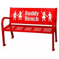 Paris 4 ft. Red Buddy Bench