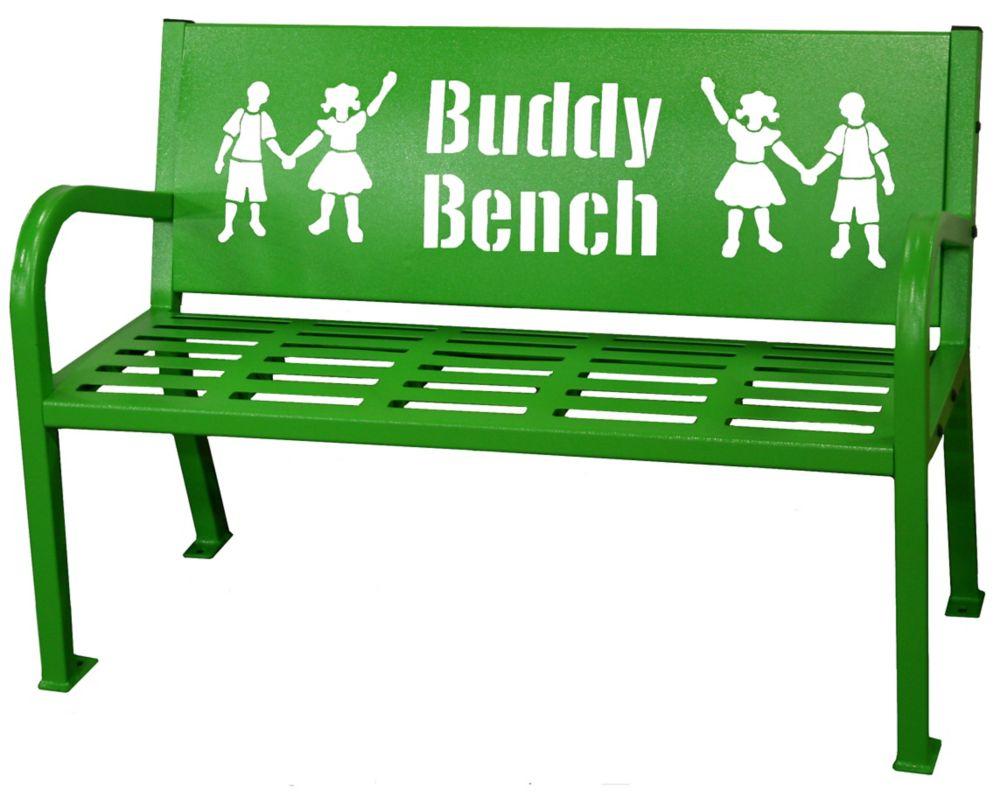 Paris 4 ft. Green Buddy Bench