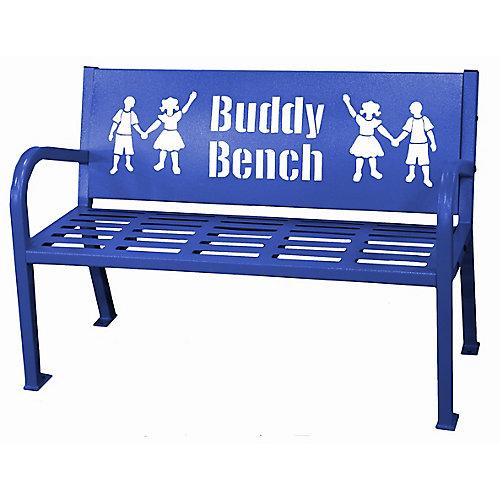 Banc Buddy 4 pieds, bleu