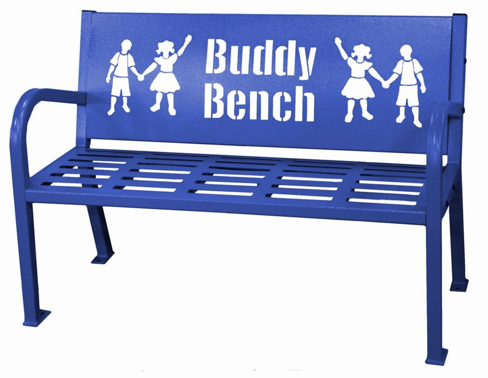 Paris 4 ft. Blue Buddy Bench