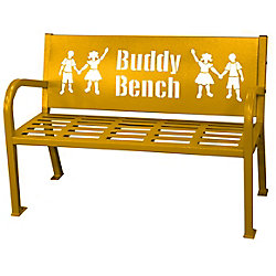 Paris 4 ft. Yellow Buddy Bench