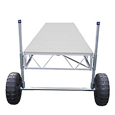 16 ft. Straight Roll-In Dock with Gray Aluminum Decking