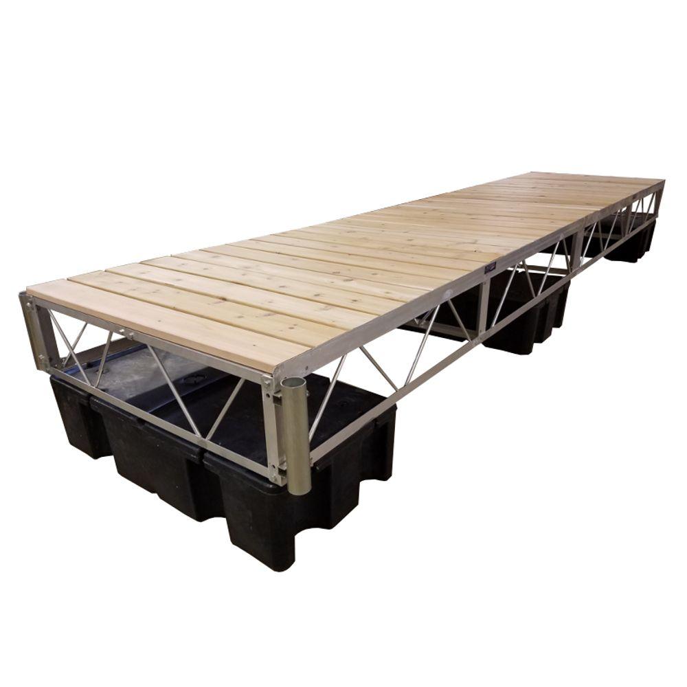 16 ft. Floating Dock with Cedar Decking