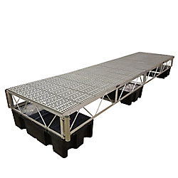 Patriot Docks 16 ft. Floating Dock with Poly Decking