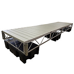 Patriot Docks 16 ft. Floating Dock with Gray Aluminum Decking