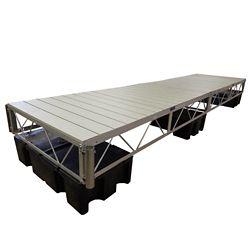 Patriot Docks Quai flottant avec terrasse en aluminium peint gris de 4,88m (16pi)