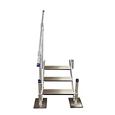 3-Step Aluminum Stairs with Handrail
