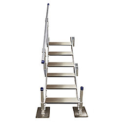 Patriot Docks 6-Step Aluminum Stairs with Handrail