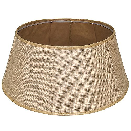Home Accents 11-inch x 26-inch Burlap Tree Stand Collar in Tan