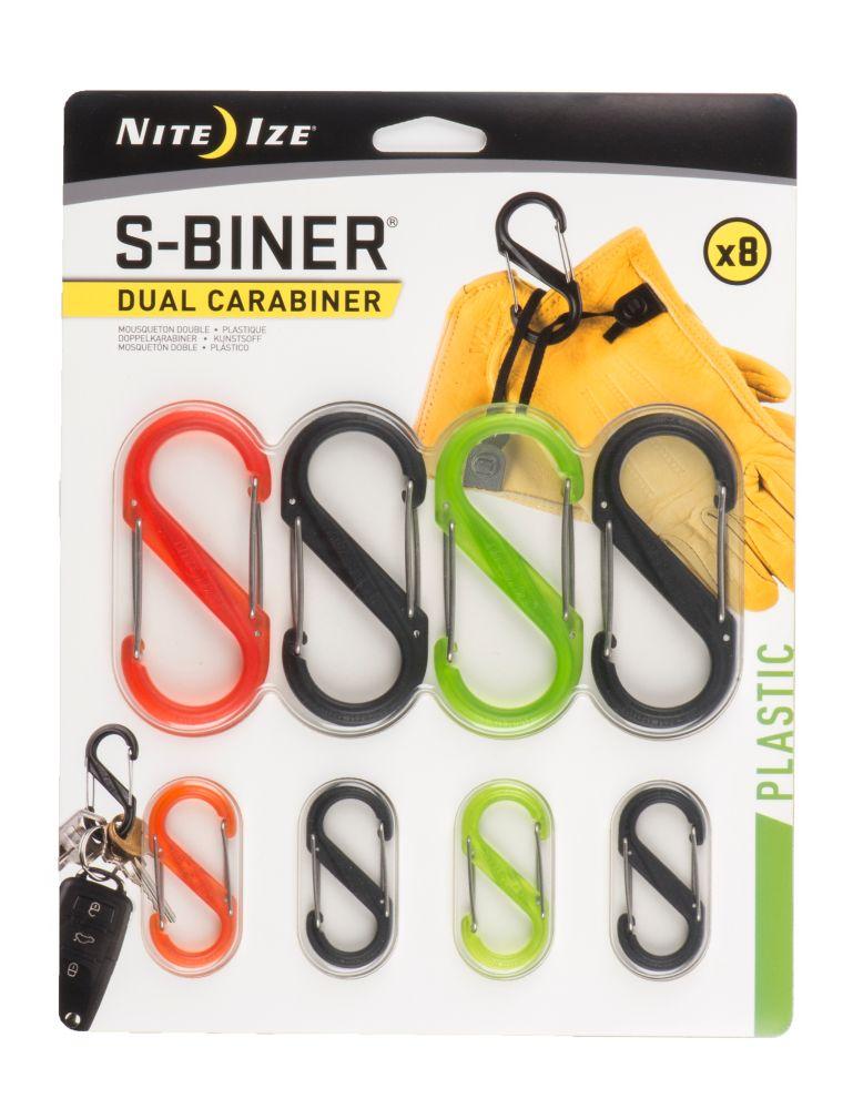 Nite Ize S-Biner Dual Carabiner - 8 Pack - Assortment