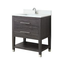 GLACIER BAY Chesswood 30-inch Vanity Combo in Grey Brown Ash