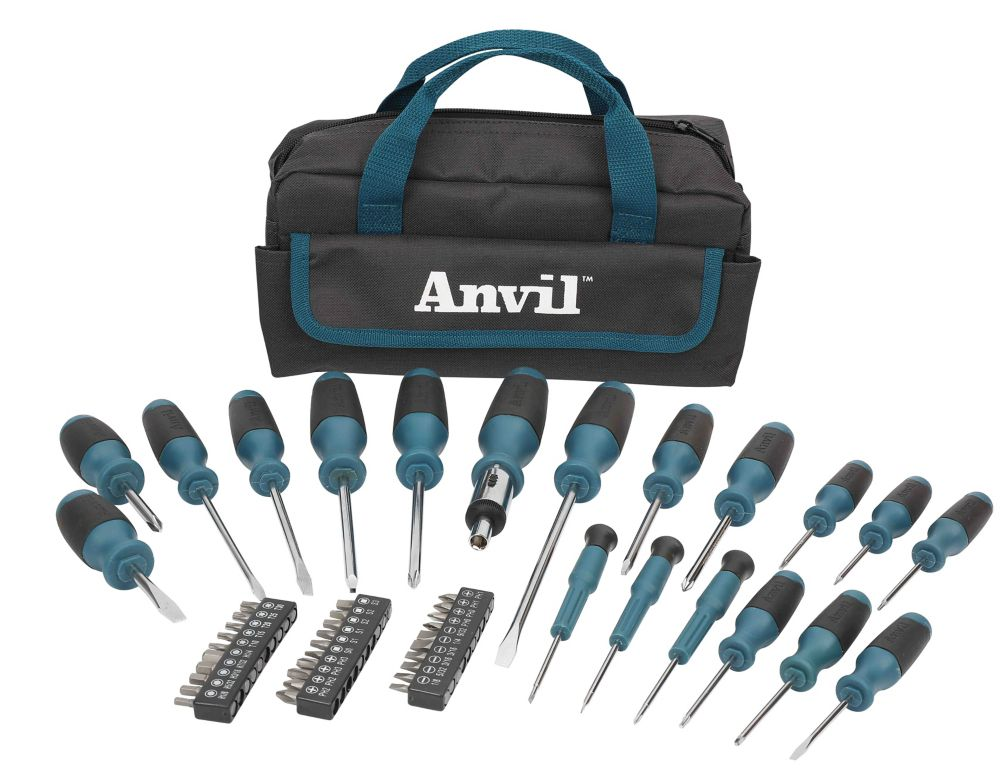 ANVIL ANVIL 49-Piece Screwdriver Set with Bonus Pouch