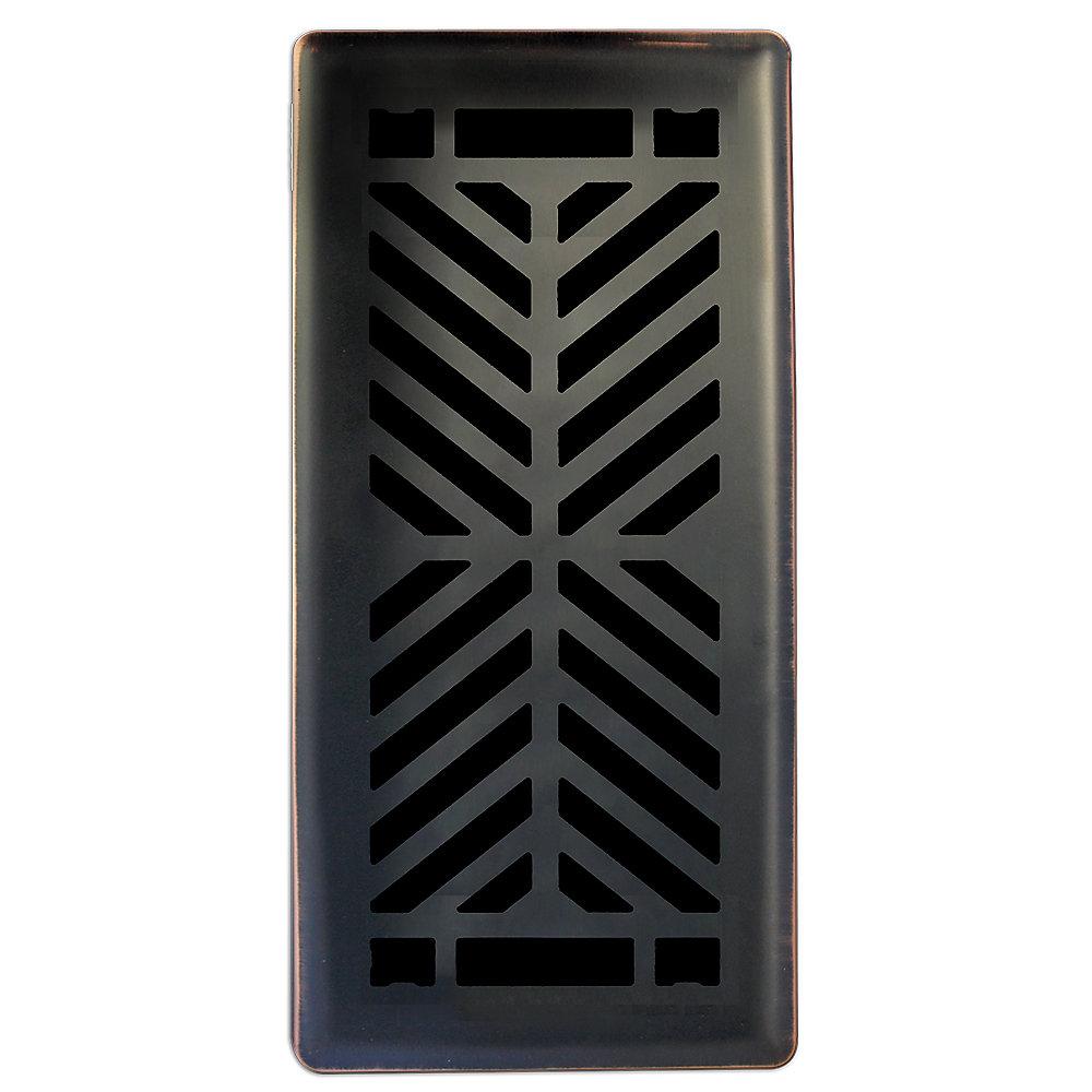 Grille de ventilation unique en bronze huilé Quiver Dance 4po x 10po
