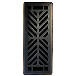 Grille de ventilation unique en bronze huilé Quiver Dance 3po x 10po