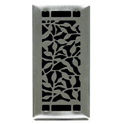 Hampton Bay 4 inch. x10 inch.  Desi Brushed Steel Floor Register Single