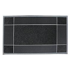 Runway Black 23-inch x 46-inch Door Mat