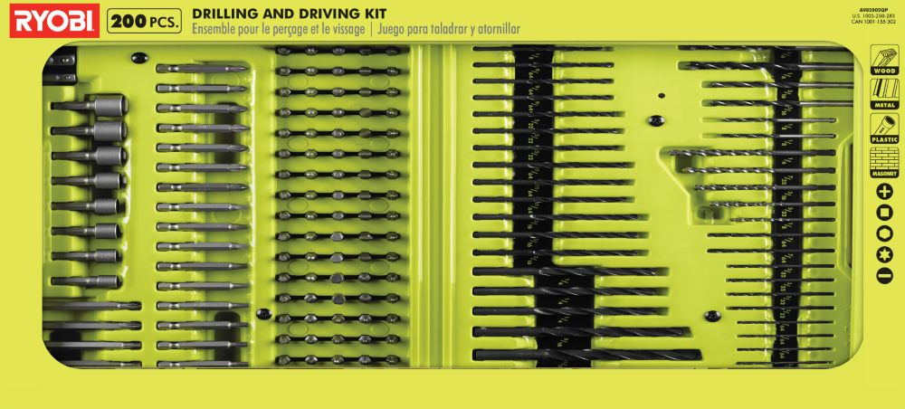 Black Oxide Drill and Drive Kit (200-Piece)