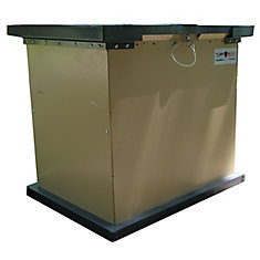 BRUIN 100 Gal. Tan Galvanized Metal Animal Resistant Storage Container