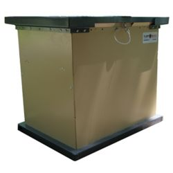 TuffBoxx BRUIN 100 Gal. Tan Galvanized Metal Animal Resistant Storage Container