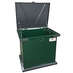 TuffBoxx Bruin, Green/Graphite, the Industry Leader in Animal Resistant Garbage and Storage Containers