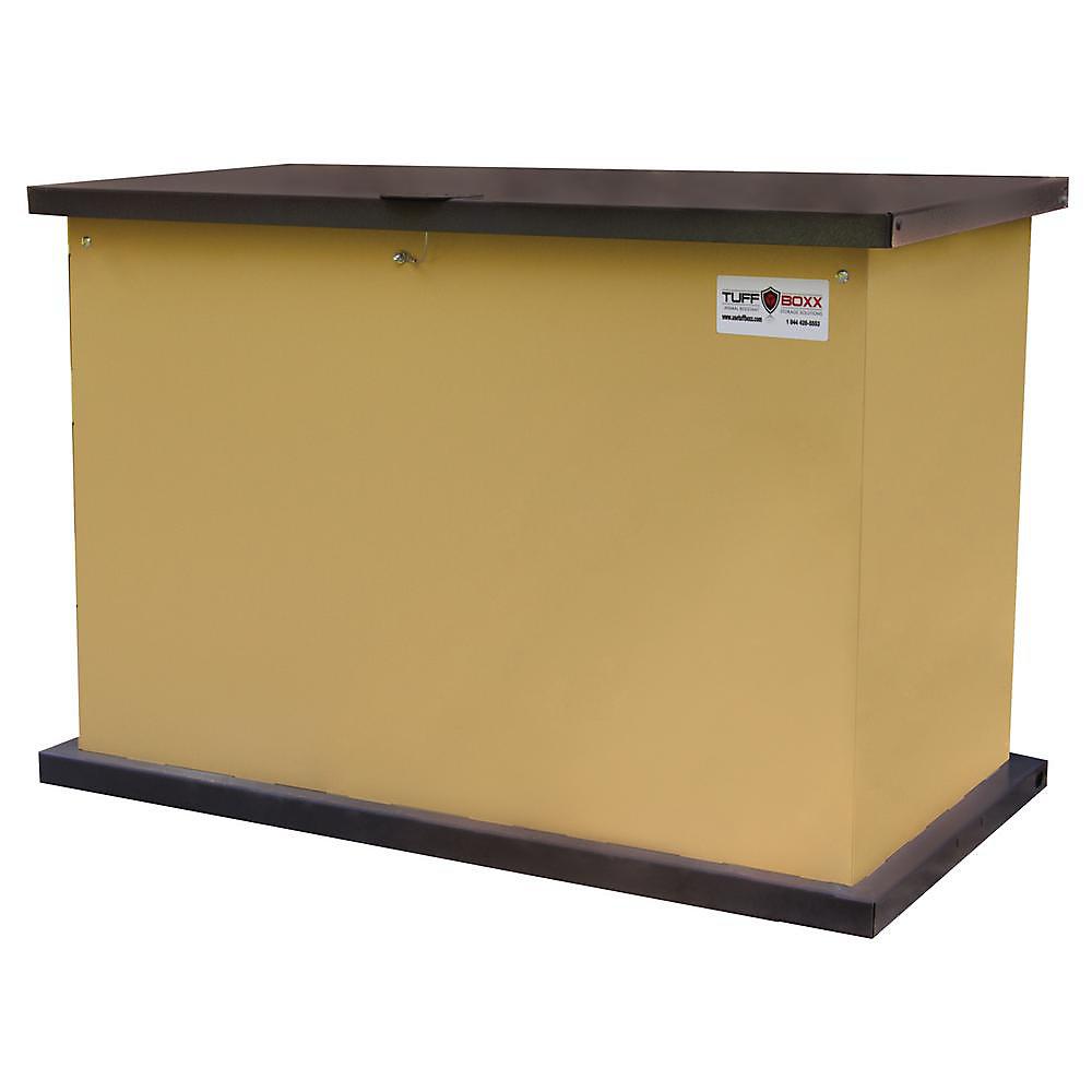 Coffre de rangement en métal galvanisé résistant aux animaux 137 gallons de bronzer