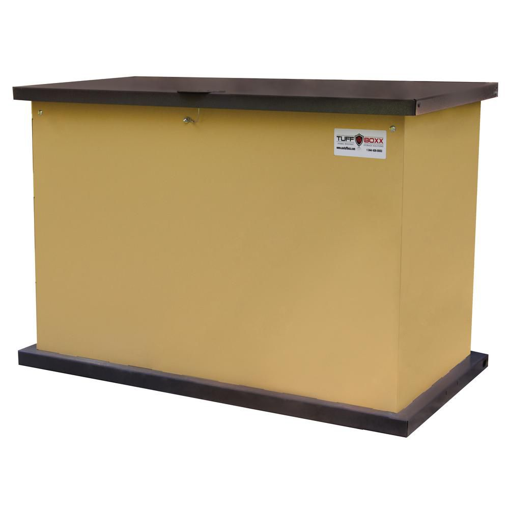 KIT 137 Gal. Secure Storage Solution Tan Galvanized Metal Animal Resistant Storage Container