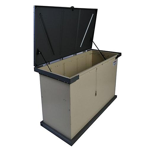 Conteneur à déchets et d'entreposage à l'épreuve des animaux Grizzly, beige/graphite