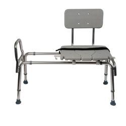 DMI Heavy-Duty Sliding Transfer Bench Shower Chair