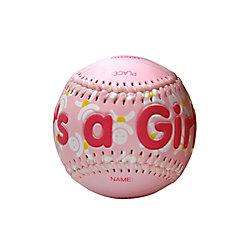 THD It's a Girl Baseball In Acrylic Cube