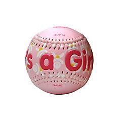 It's a Girl Baseball In Acrylic Cube