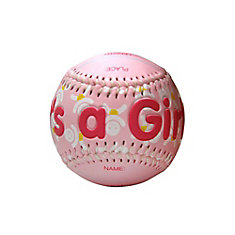 It's a Girl Baseball In Clam Shell