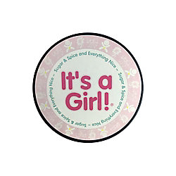 THD It's a Girl Hockey Puck In Clam Shell