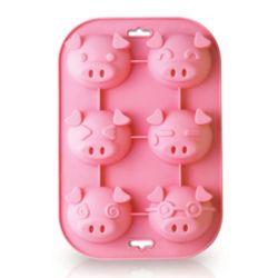 Siliconezone Piggy 6 Cup Muffin Mold