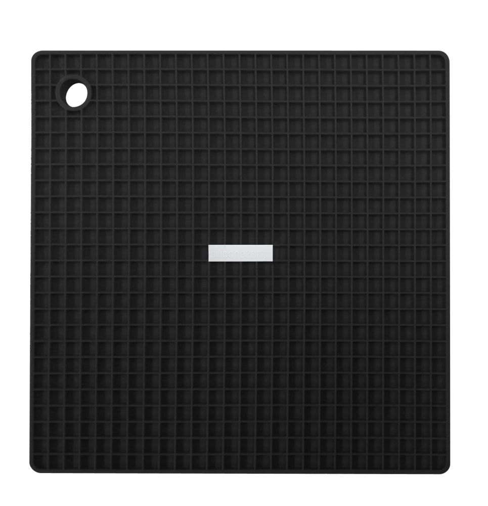 Siliconezone Grid Pot Holder Black