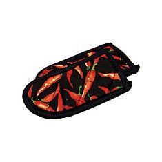Maniques pour poignées chaudes à motif de piments chili de Lodge, ens. de 2