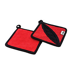 Lodge Silicone And Fabric Trivet, Red