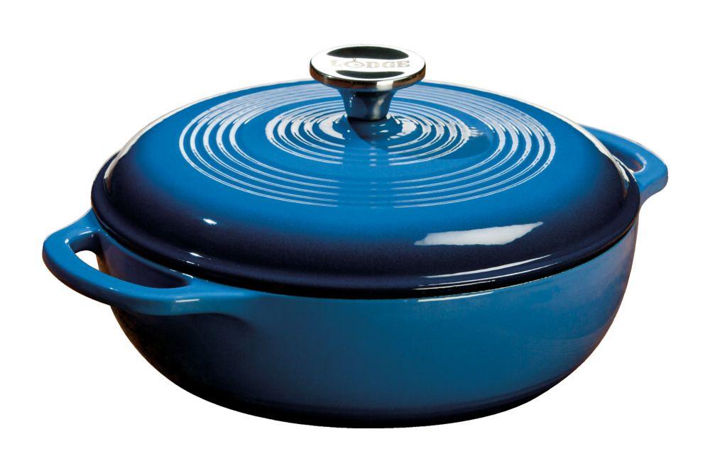 Enamel Dutch Oven, 3Qt, Blue