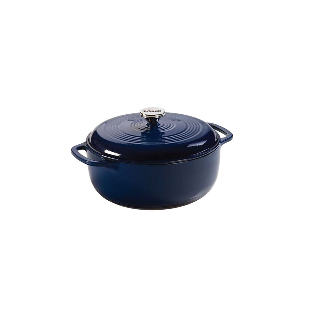 Lodge Enamel Dutch Oven, 6Qt, Indigo
