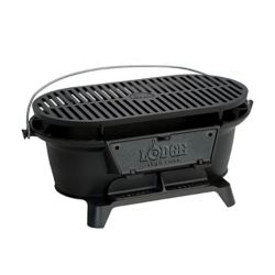 Lodge Cast Iron Hibachi Grill Charcoal BBQ
