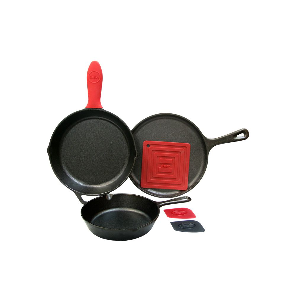Lodge 6 Piece Essential Pan Set