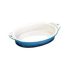 Plat de cuisson en grès Lodge 8 X 11.75 po, bleu