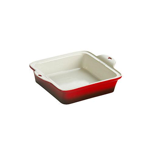 Stoneware Baking Dish 8X8 inch  Red