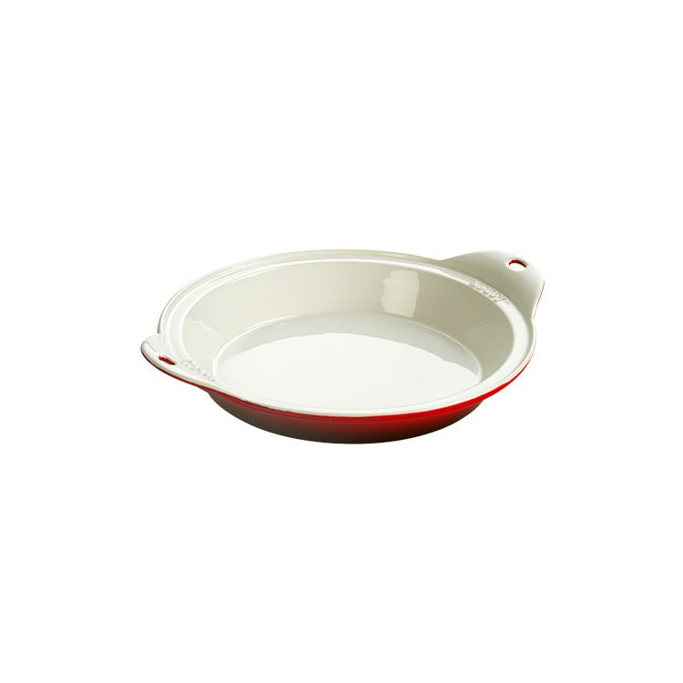 Lodge Stoneware Baking Dish 9.5 inch Dia Red