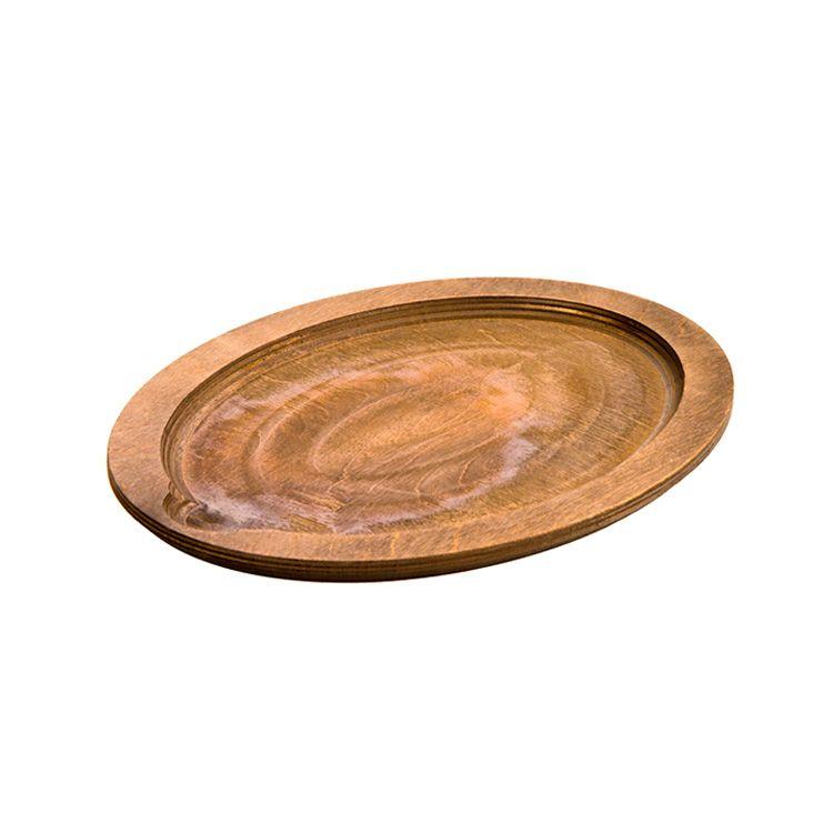 Lodge Jumbo Oval Wood Underliner, Walnut Stain