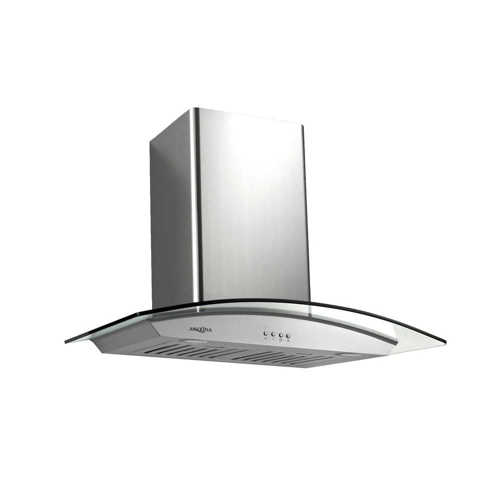 Ancona Tornado III 30-inch Wall-Mounted Convertible Range Hood in Stainless Steel