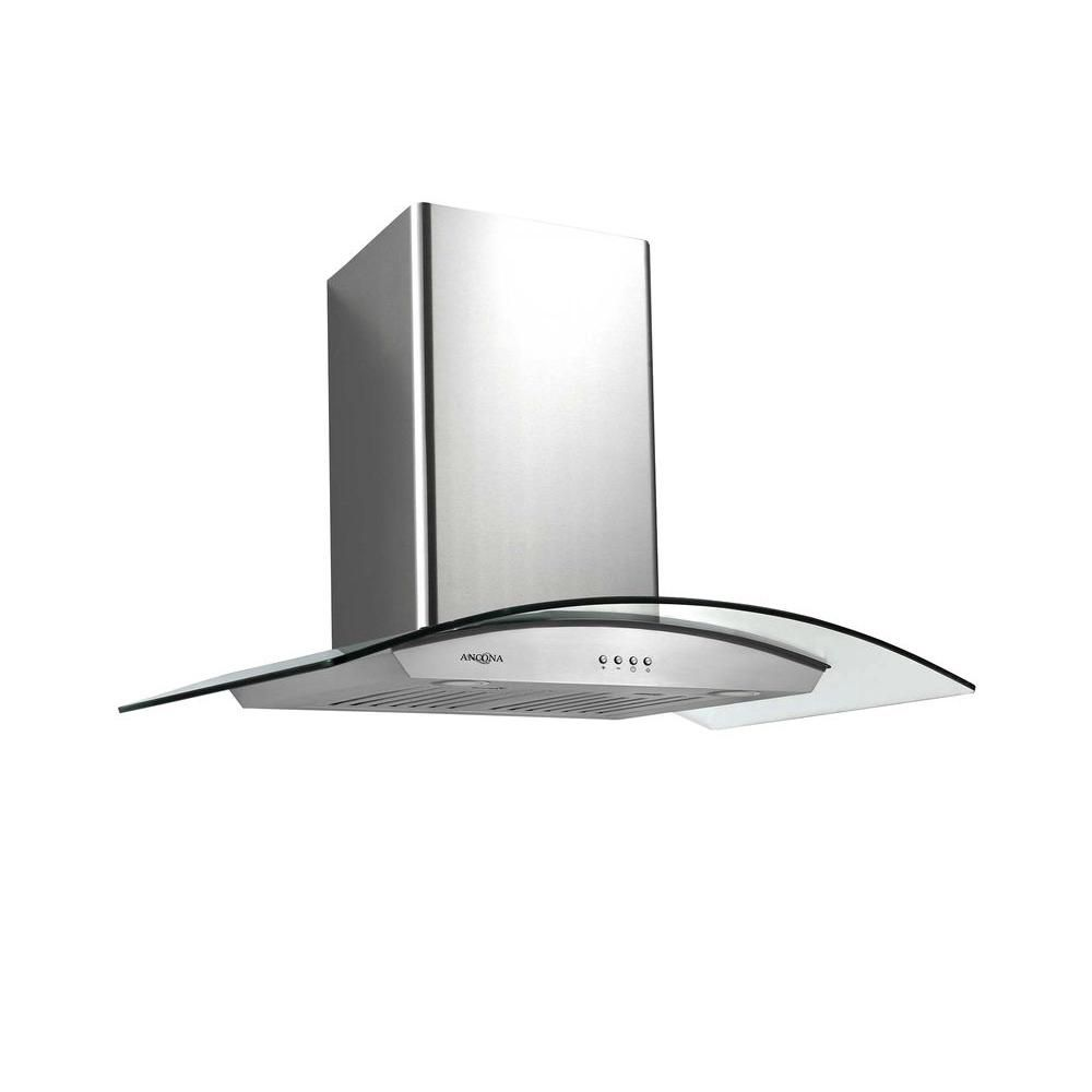 Ancona Tornado III 36 inch Wall-Mounted Convertible Range Hood in Stainless Steel