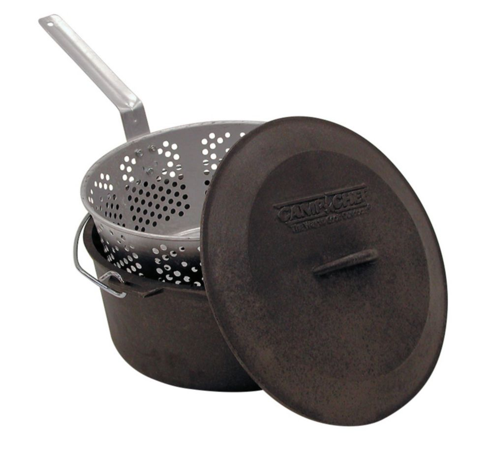 Camp Chef Cast Iron Fry Pot Set